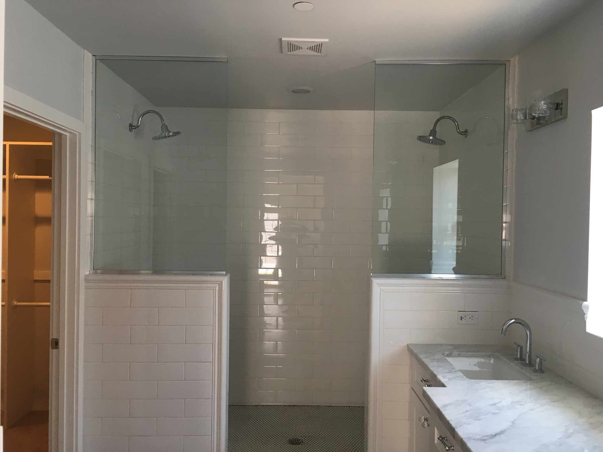 Glass Shower Splash Panel
